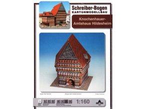 středověká hrázděná kancelářská budova - Hildesheim