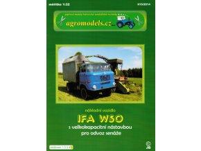 Ifa W50 - zelená - nástavba na senáž