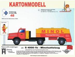 Sachsenring S 4000-1 + návěs Minol