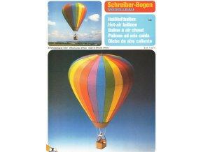 horkovzdušný balón - duha