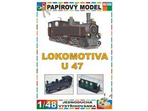 U 47 - Malletka + Ci/u - úzkorozchodná parní lokomotiva + osobní vagon