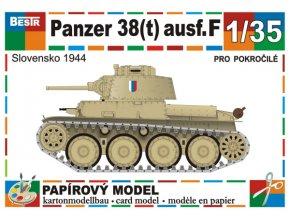 Panzer 38 (t) Ausf.F - Slovensko 1944