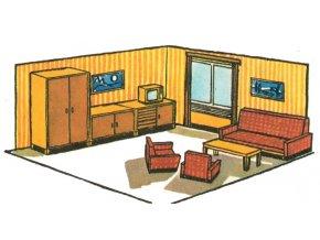 obývací pokoj + nábytek