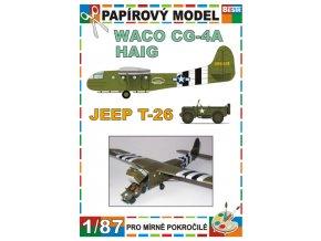 Waco CG-4A Haig + Jeep T-26