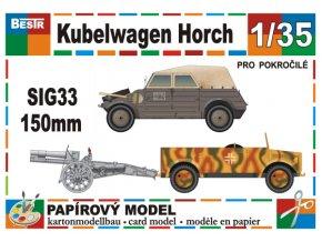 Kübelwagen + Horch + SiG33 150 mm