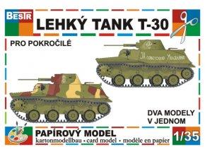 lehký tank T-30 (2 různé verze)