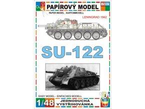 SU-122 - Leningrad 1942 - zimní verze