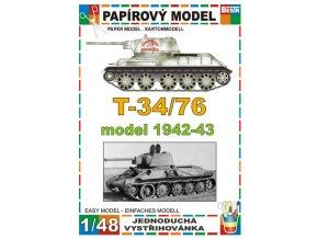 T 34/76 model 1942-43 - zimní verze