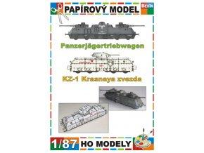 Panzerjägertriebwagen + KZ-1 Krasnaja Zvezda