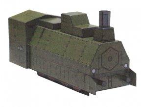 obrněný vlak - lokomotiva