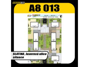 Slatina, Javorová ulice - situace