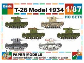 T-26 Model 1934 - 6 různých verzí