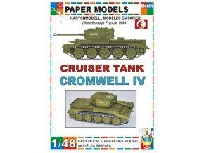 Cromwell IV Cruiser tank - Villers-Bocage Francie 1944
