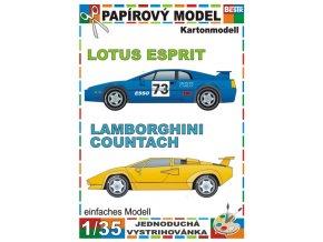 Lotus Esprit + Lamborghini Countach