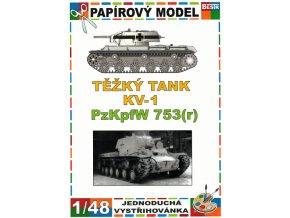KV-1 PzKpfW 753(r) - zimní verze