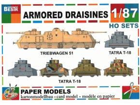 Armored draisines - Triebwagen 51 + 5 různých verzí Tatra T-18