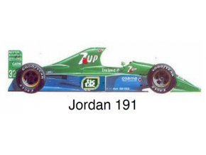 Jordan 191 - GP Belgium 1991