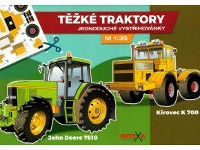 John Deere 7810 + Kirovec K 700 (Těžké traktory)