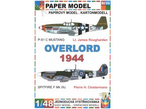 Overlord 1944 - P-51 C Mustang + Spitfire F Mk IXc