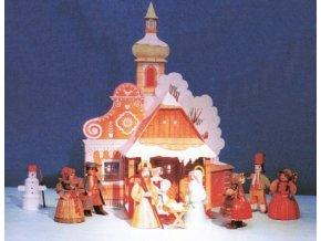 Prostorový vánoční betlém s krojovanými figurkami