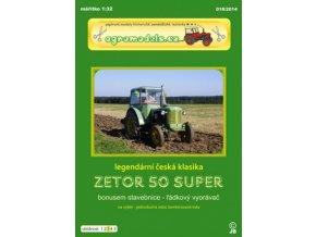 Zetor 50 Super + řádkový vyorávač