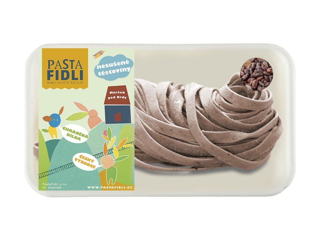 Čerstvé kakaové těstoviny se skořicí ve tvaru tagliatelle vyrábíme z vysoce kvalitní semolinové mouky a vajíček, bez konzervantů a barviv.
