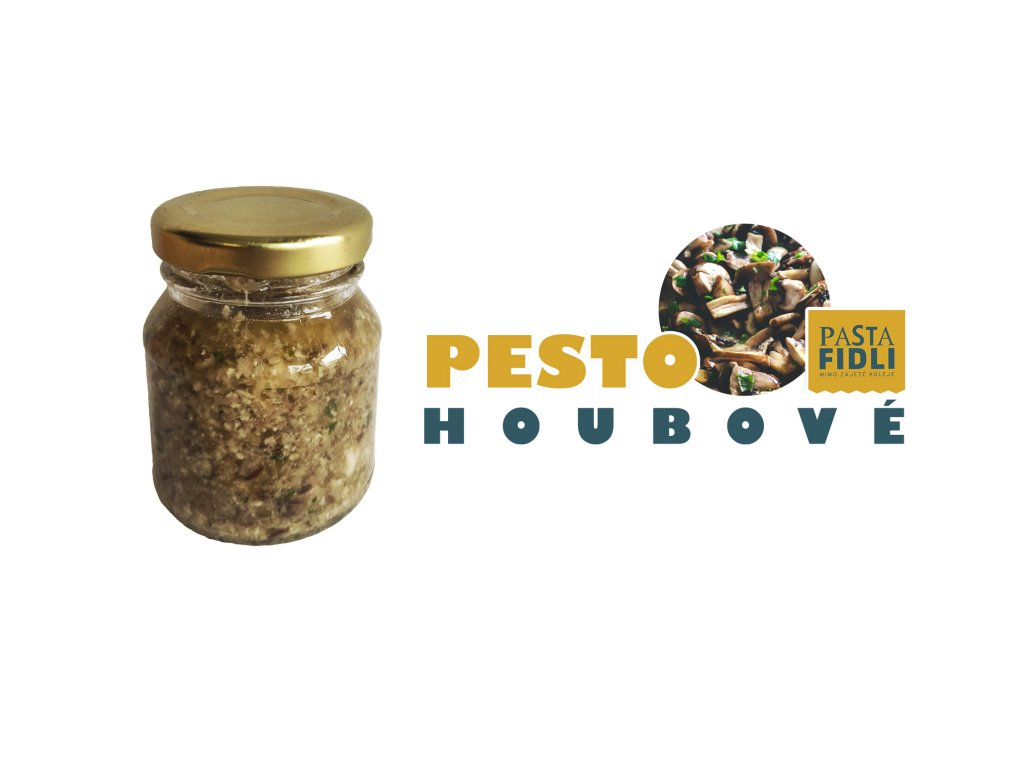 pesto houbove pasta fidli