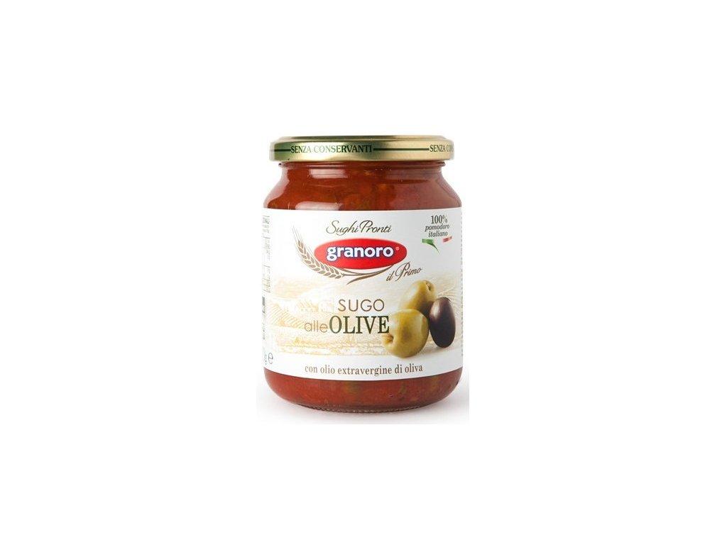 omacka s olivami granoro sugo alle olive 370 g