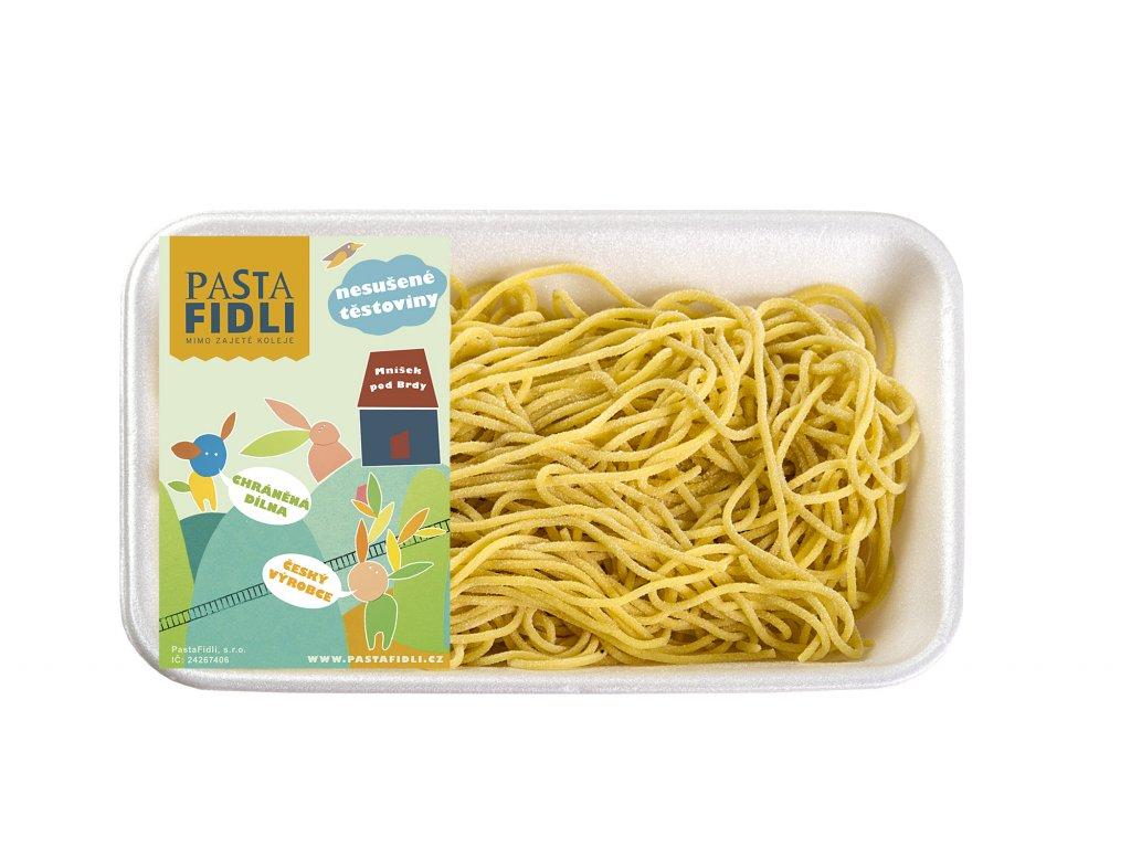 Čerstvé vaječné špagety děláme ručně z kvalitní semolinové mouky