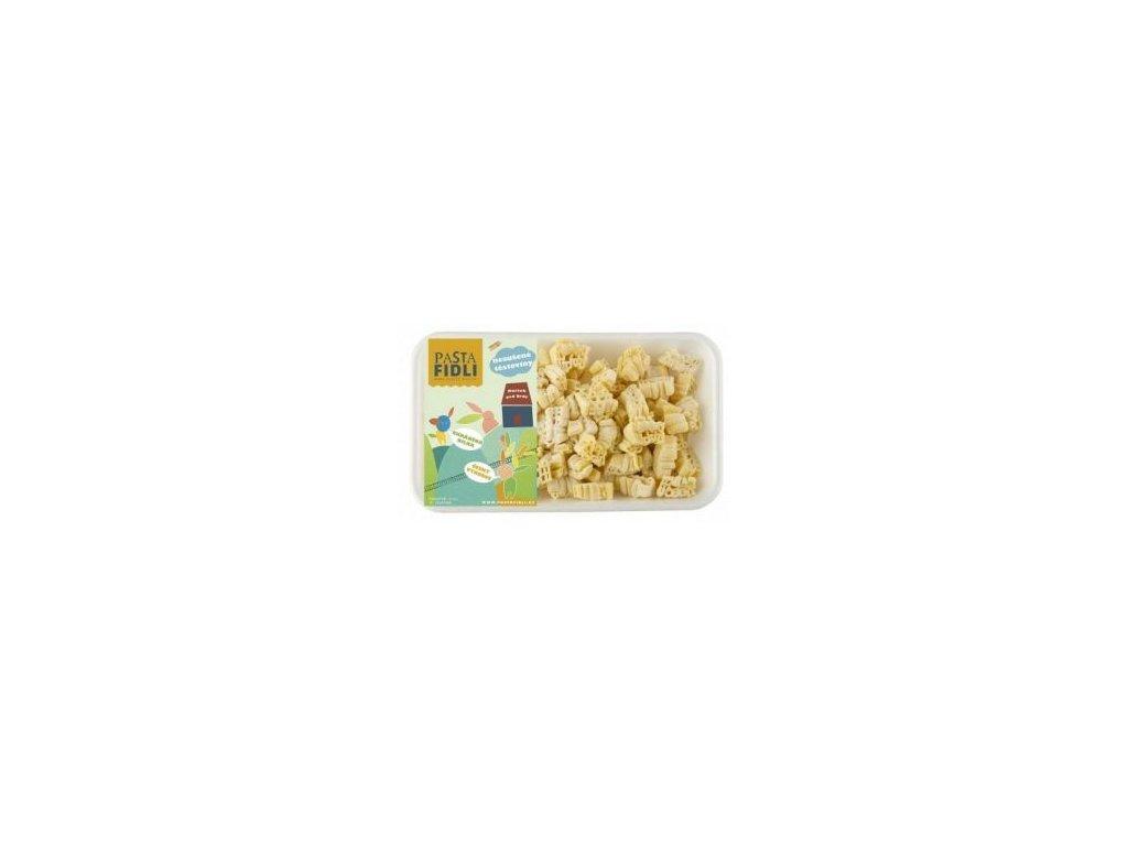 Čerstvé těstoviny ve tvaru mašinek, zejména vhodné pro děti