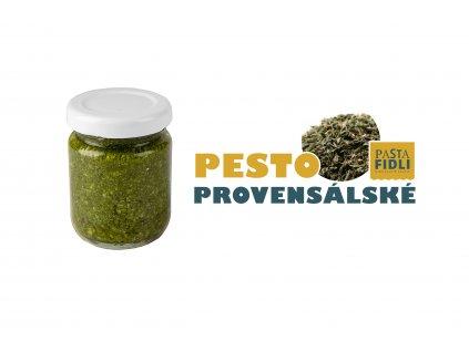 Čerstvé provensálské pesto dělané ručně z italských bylinek