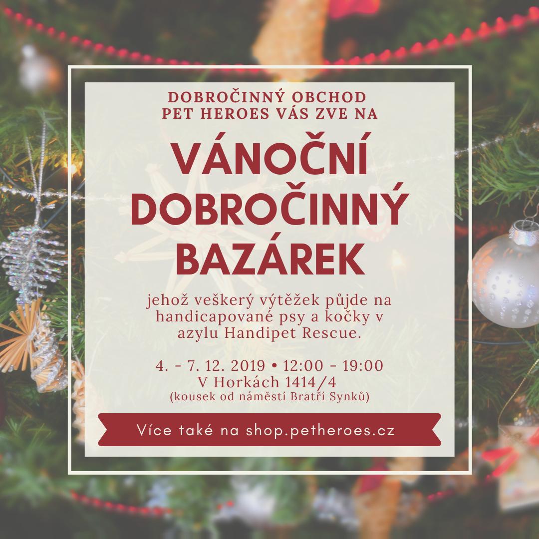 Vánoční bazárek na pomoc pejskům a kočičkám v nouzi 4.-7.12.2019