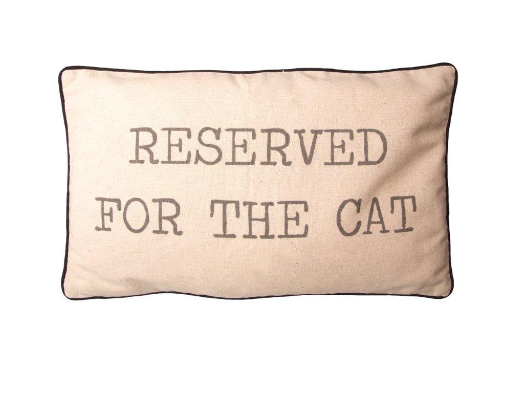 Reserved for the cat polštářek