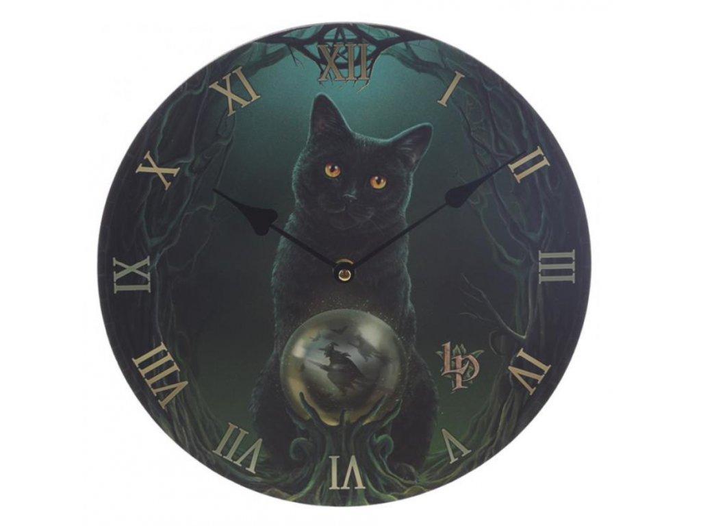 hodiny kočka
