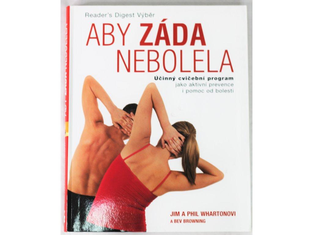 Kniha Aby záda nebolela - Bazar