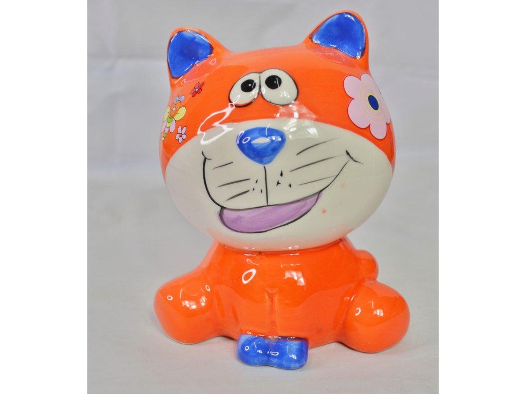 Dekorace oranžová kočička - Bazar