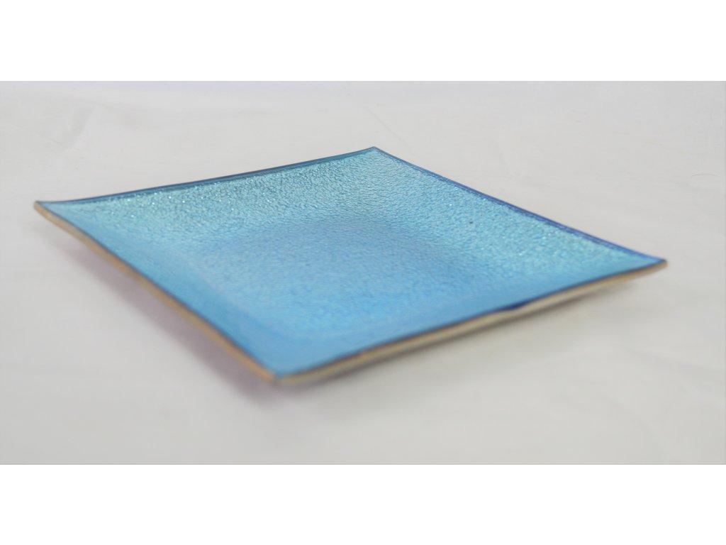 Modrý dekorativní talířek - Bazar