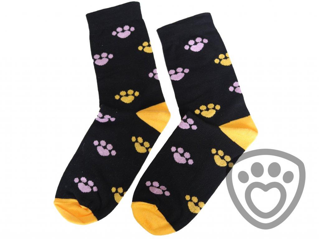 ponožky s potiskem tlapiček