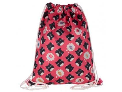 CBAG77 Feline Fine Cat Drawstring Bag
