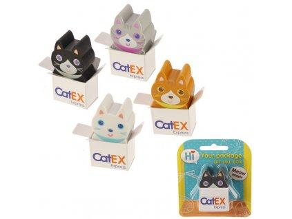 guma v podobě kočičky
