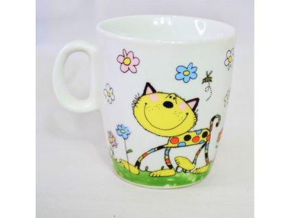 Hrnek žlutá kočka - Bazar