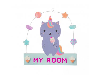 Luna Caticorn Sweeties Hanging Plaque1
