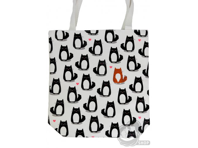 Kočičí látková taška se zipem
