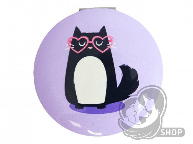 Kapesní zrcátko s motivem koček - různé barvy