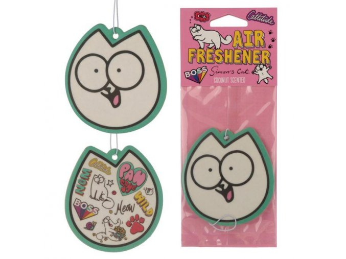 AIRF92 Coconut Simons cat pawsome air freshener