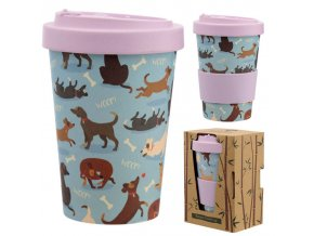 BAMB73 catch patch dog reusable screw top bamboo cup