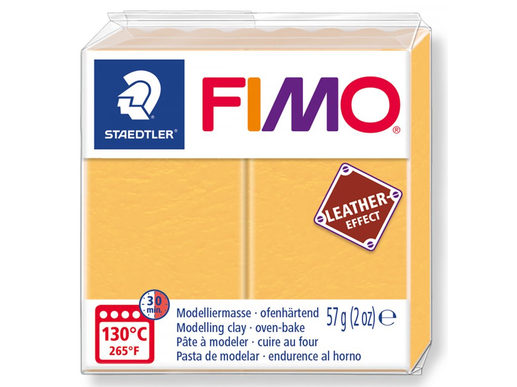 Fimo Leather - Saffron yellow