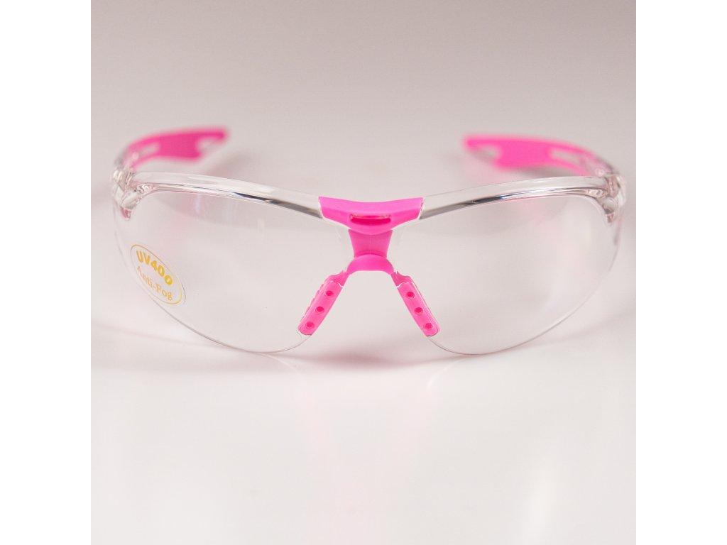 Ochranné brýle Klubbhuset růžové