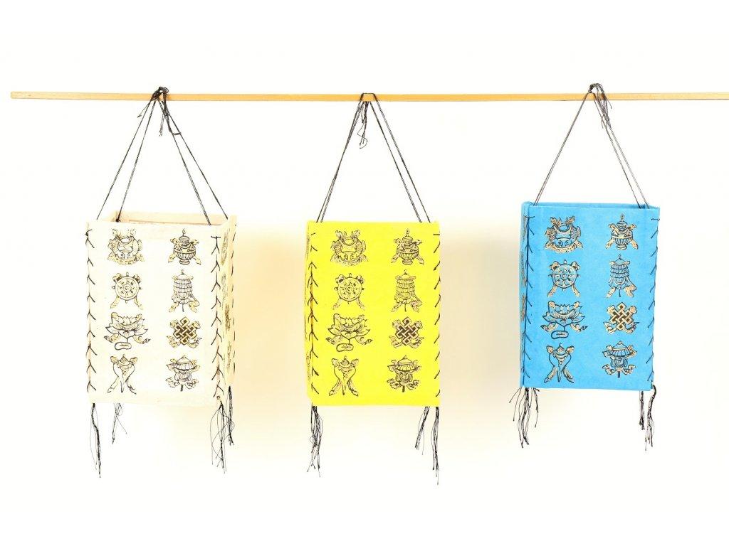Lampion osm šťastných symbolů A