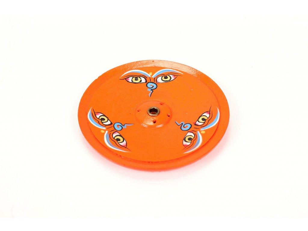 stojanek oranzovy rucne malovany